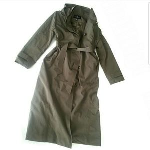 London Fog Army Green Trench Coat Sz XXL